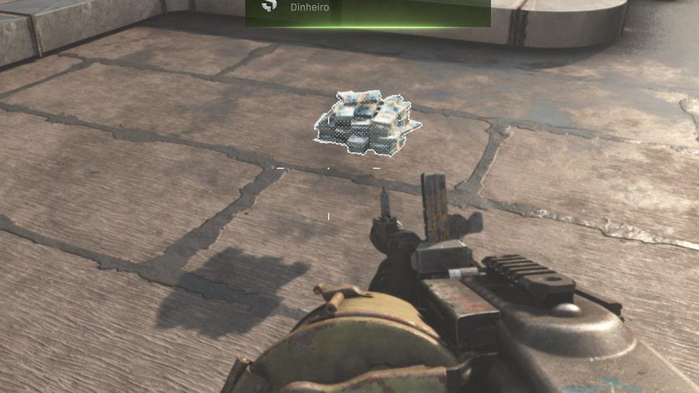 Call of Duty Warzone compartilhando pilha de dinheiro