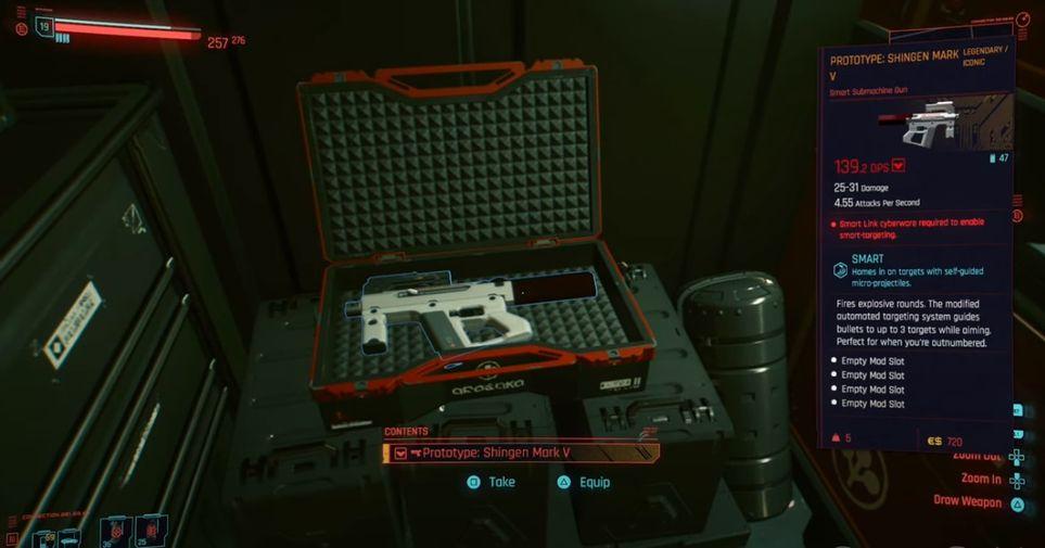 Cyberpunk 2077 Prototype Shingen Mark V In Briefcase