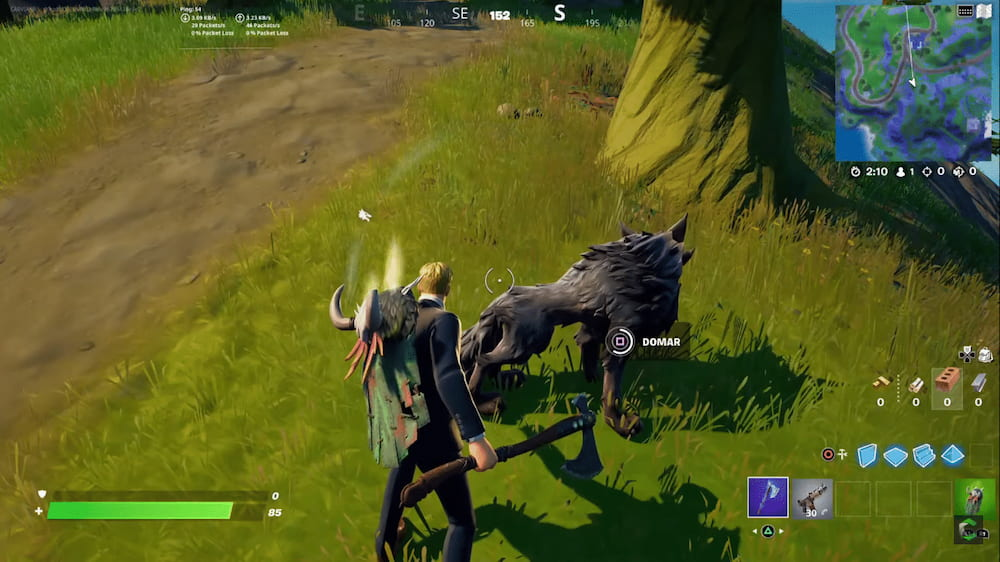 caçando lobo fortnite