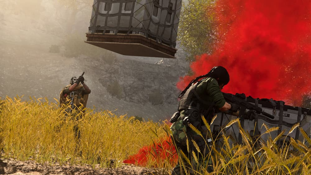 call of duty warzone personagem esperando loadout drops