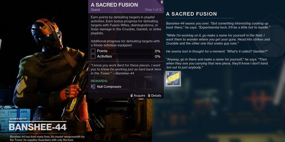 Destiny 2 A Sacred Fusion Quest