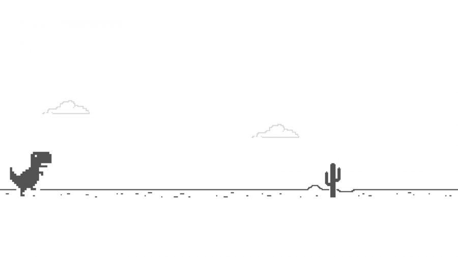 A internet caiu inesperadamente, então agora o trabalho está fora de questão. Enquanto você espera que alguém conserte a internet, por que não experimentar o corredor sem fim do Google? Ao ver o dinossauro na página 'não é possível conectar-se à página da Internet', pressione a barra de espaço para iniciar o jogo. Pule sobre as pilhas de cactos para manter o dinossauro funcionando por horas a fio.