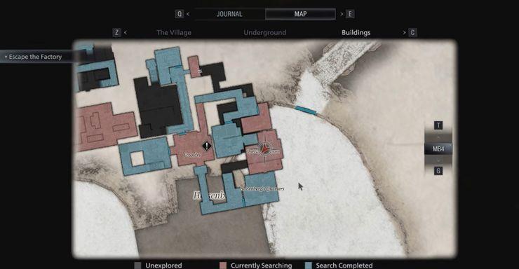 resident evil village mapa